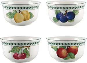 Villeroy & Boch French Garden Modern Fruits 4in Bowl : Assorted Set of 4, 20 oz, White/Colored