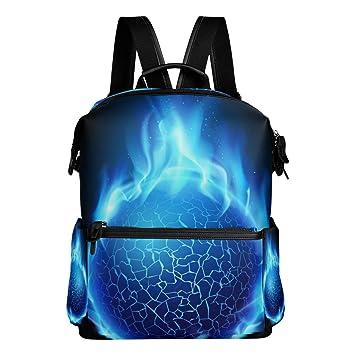 TIZORAX Fire Ball - Mochila Escolar, diseño de Bola de fútbol: Amazon.es: Deportes y aire libre