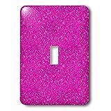 3dRose Uta Naumann Faux Glitter Pattern - Image of Sparkling Shiny Pink Luxury Elegant Mermaid Glitter - Light Switch Covers - single toggle switch (lsp_274956_1)