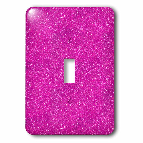 3dRose Uta Naumann Faux Glitter Pattern - Image of Sparkling Shiny Pink Luxury Elegant Mermaid Glitter - Light Switch Covers - single toggle switch (lsp_274956_1) by 3dRose