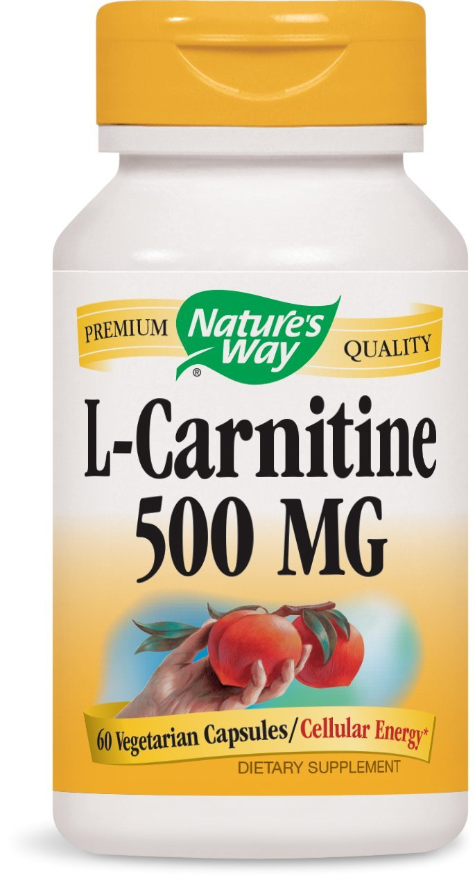 Nature's Way Premium Quality L-Carnitine 500 MG, 60 VCaps by Nature's Way
