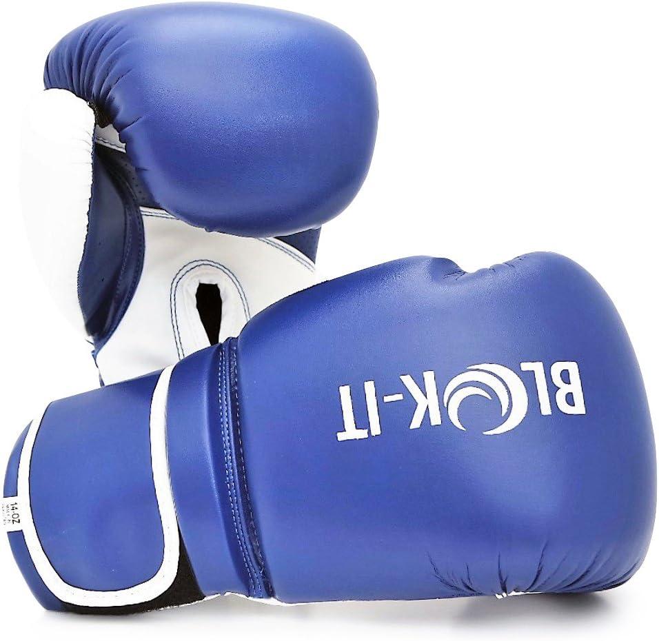 la boxercise Blok-iT Gants de Boxe: Equipement de sp/écialiste de Boxe Pro Convient pour la Boxe Gants de Boxe Pro. Le Muay Thai Le Kickboxing gantsdentra/înement Gants pour Sac de Frappe