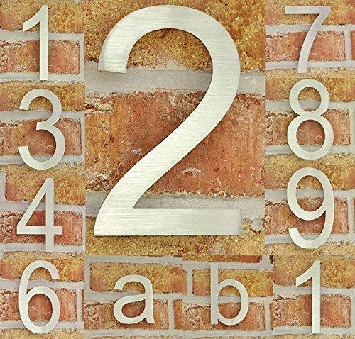 nanook Hausnummer 'Tipo' - Edelstahl matt - fein gebü rstet - 15 cm - Nr. 3