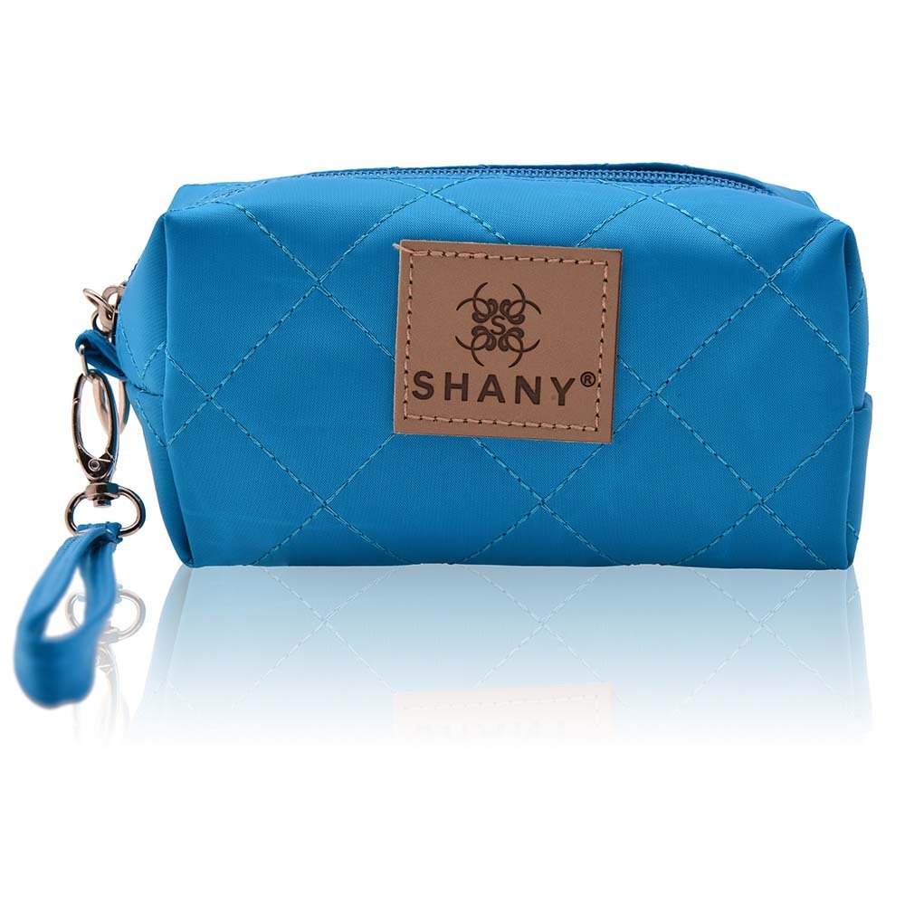 SHANY Limited Edition Mini Tote Bag and Travel Makeup Bag, Ocean Blue