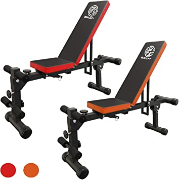 Graft Banc De Musculation Pliable Et Reglable Noir Orange Amazon Fr Sports Et Loisirs