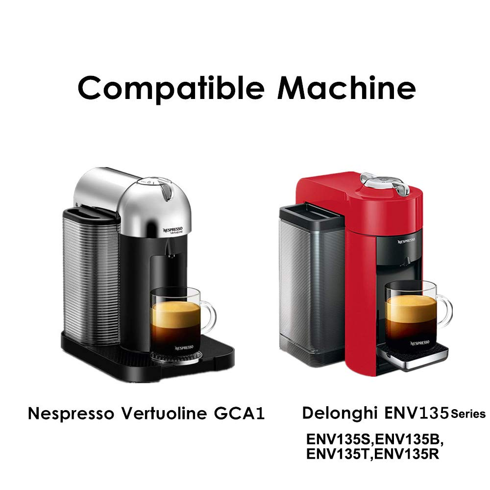 Stainless Steel Metal Coffee Capsule Compatible for Vertuo Coffee Espresso Size Nespresso Vertuoline Reusable Pods Holder Vertuolline GCA1,ENV135S,ENV135B,ENV135T,ENV135R (capsule) by BRBHOM (Image #9)