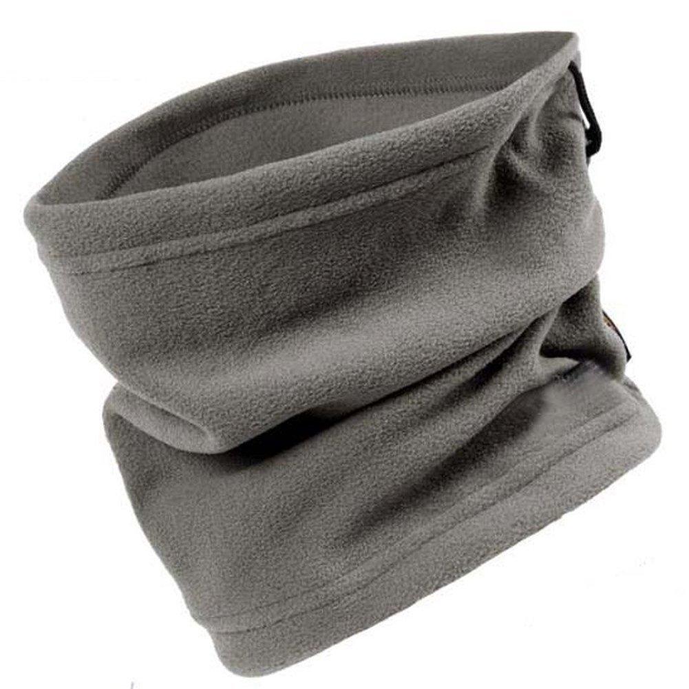 TININNA Winter Tubuläre Schal Multifunktionstuch Schlauchtuch Motorrad Halstuch Kopftuch Halswärmer Fleece grau