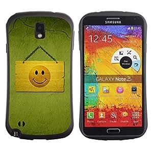 Suave TPU GEL Carcasa Funda Silicona Blando Estuche Caso de protección (para) Samsung Note 3 / CECELL Phone case / / Hapy Smiley Area /