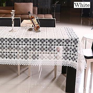 BLUELSS Tischdecken handgemachter Stickerei runde Spitze Tischdecke ...