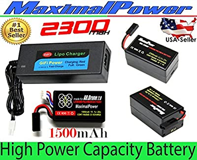 LiPo Battery For PARROT AR.DRONE 2.0 & 1.0 Quadricopter Lithium-Polymer 1500mAh - 2300mAh