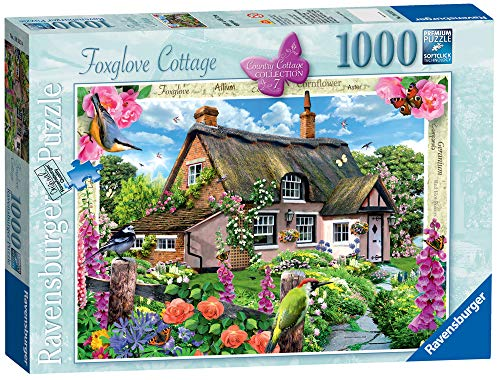 Ravensburger Country Cottage Collection No.7 - Foxglove Cottage, 1000pc Jigsaw Puzzle (The Collection Cottage)