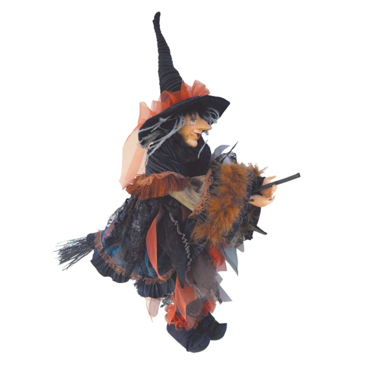 Witches of Pendle - Casandra Witch Flying (Blue) 60cm 5537-1
