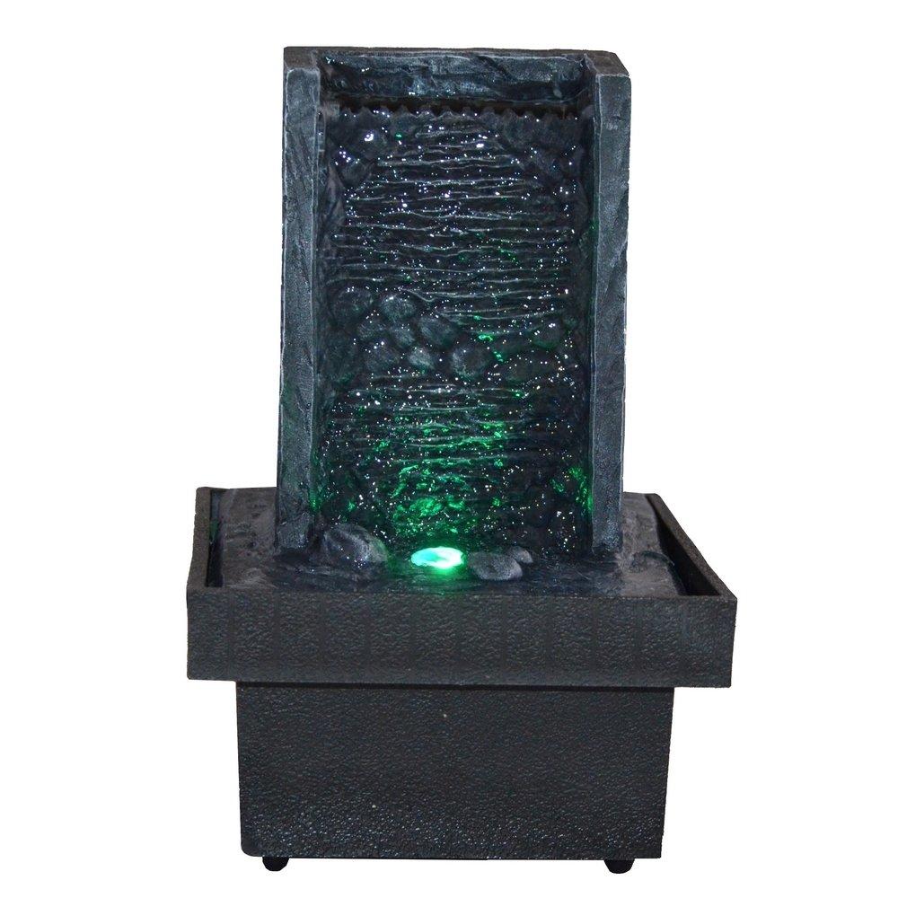 Zen Light, Fontana per interni con LED che cambiano colore, da ...