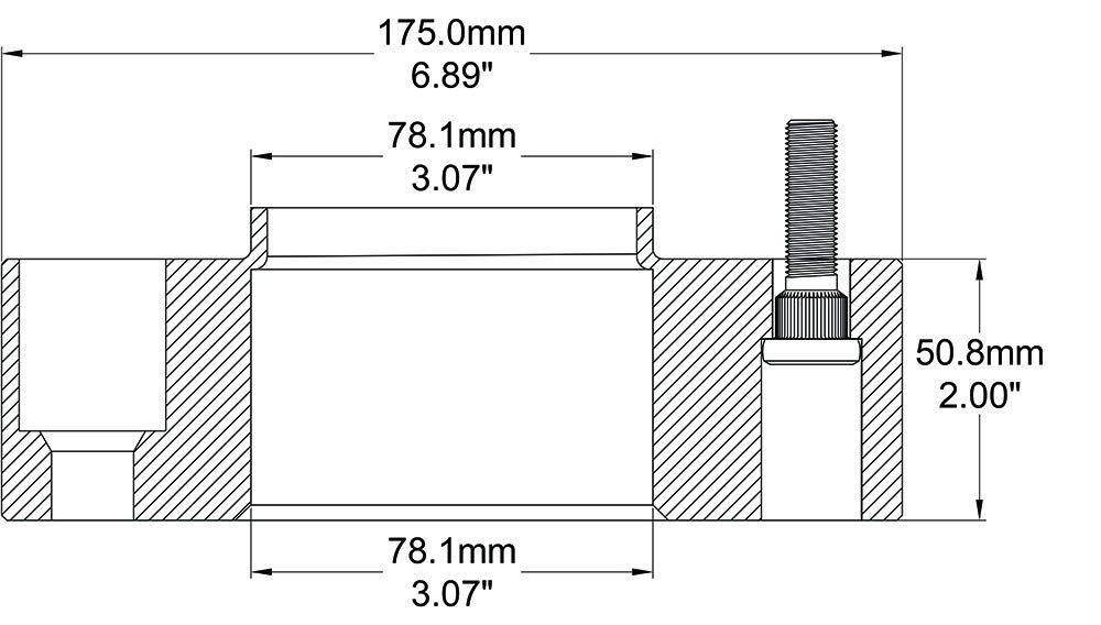 1.75 Thick GMC Sierra Truck Bolt Pattern: 6x5.5 to 6x5.5 Set of 2 Hub Centric 6 Lug Wheel Adapter Spacer Fits Chevy Silverado 6x139.7 to 6x139.7 78.1 Hub Bore