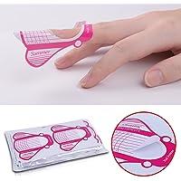 Elite99 3 Colors Acrylic Powder Liquid Brush Pen File Finger Separator Dappen Dish Nail Art Sets Extension Tips 100Pcs Nail Forms