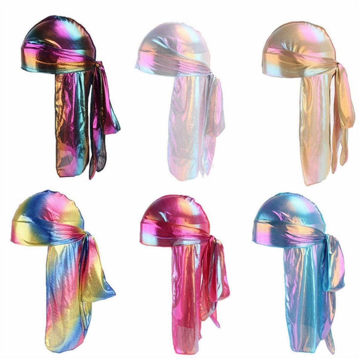 Inverlee Men/Women Silk Polyester Bandana Hat Durag Rag Tail Headwrap Headwear Gift by Inverlee (Image #2)