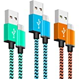 Cable Micro USB Yosou Cable USB Trenzado de Nylon [3-Pack,1M] Cable Cargador Movil Sincro y Carga USB para Dispositivos Android,Samsung Galaxy S7/S7 Edge/S6/S5/S4/S3, Note 5/4/3