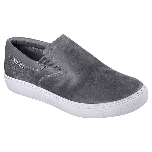Skechers - Mocasines para Hombre Gris Gris Oscuro: Amazon.es: Zapatos y complementos
