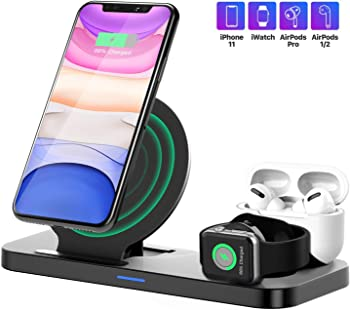 Earteana 3 in 1 Upgraded Wireless Charger Stand
