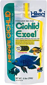 (3 Pack) Hikari Cichlid Excel Floating Pellets Mini, 8.8-Ounce Per Pack