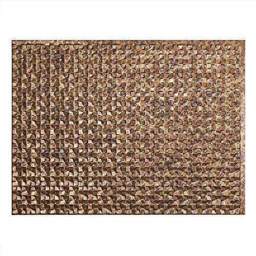 Fasade Easy Installation Terrain Cracked Copper Backsplash Panel (18