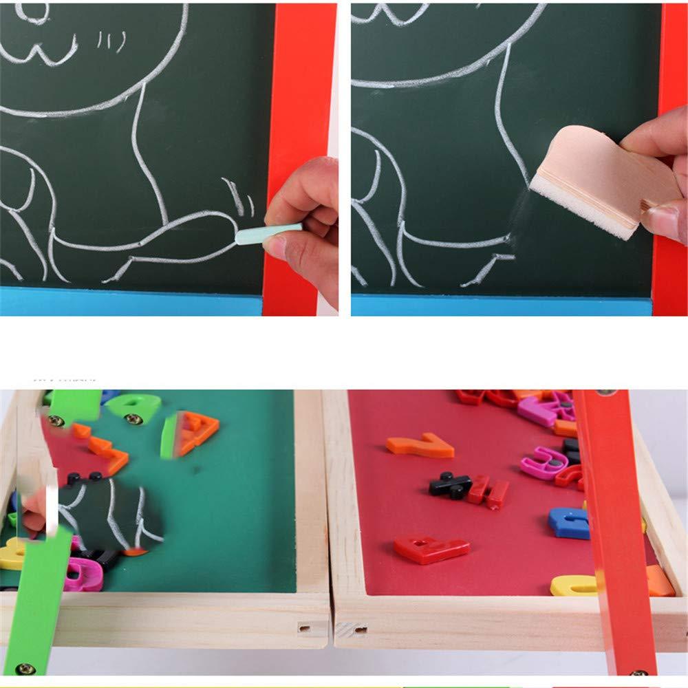 Kinder Gekritzel Gekritzel Gekritzel Bord Das Zeichenbrett der Kinder doppelseitig verstellbarer Buchstabe-Zeichenbrett-hölzerne Staffelei mit der Spaß-Ausbildung, die vorgeben, Spiele zu spielen, spielt Kindergarten-Hau B07MKTKDD1 | Internationale Wahl  | Großar e3c519