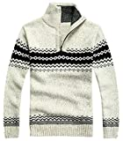 Product review for XQS Men's Hipster Tribe Printed Half Zip Cardigan Knitwear Tops