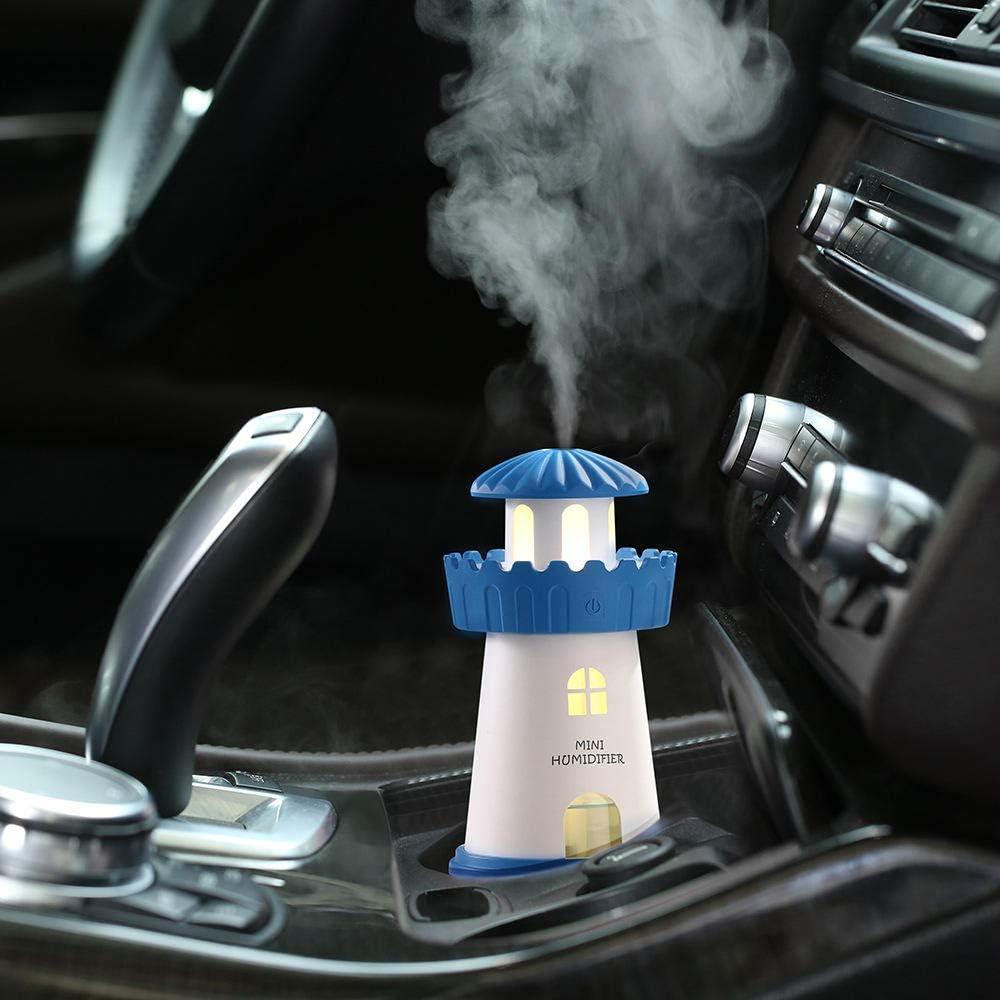 TaoRan Mini humidificador USB Faro Azul luz Nocturna de ensueño ...