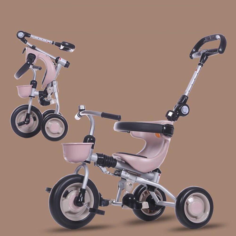 XQ 折りたたみ可能 軽量 耐衝撃性 子供 1-3歳 トロリー ベビーキャリッジ コーヒーの色 子ども用自転車 B07C6DBMDN