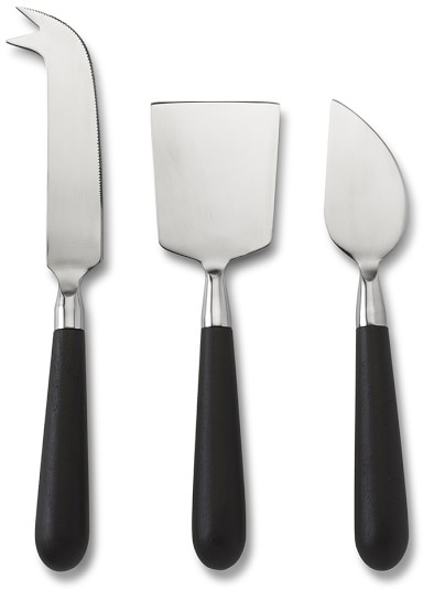 Raven Dark Wood Cheese Knives, Set of 3 | Williams-Sonoma​