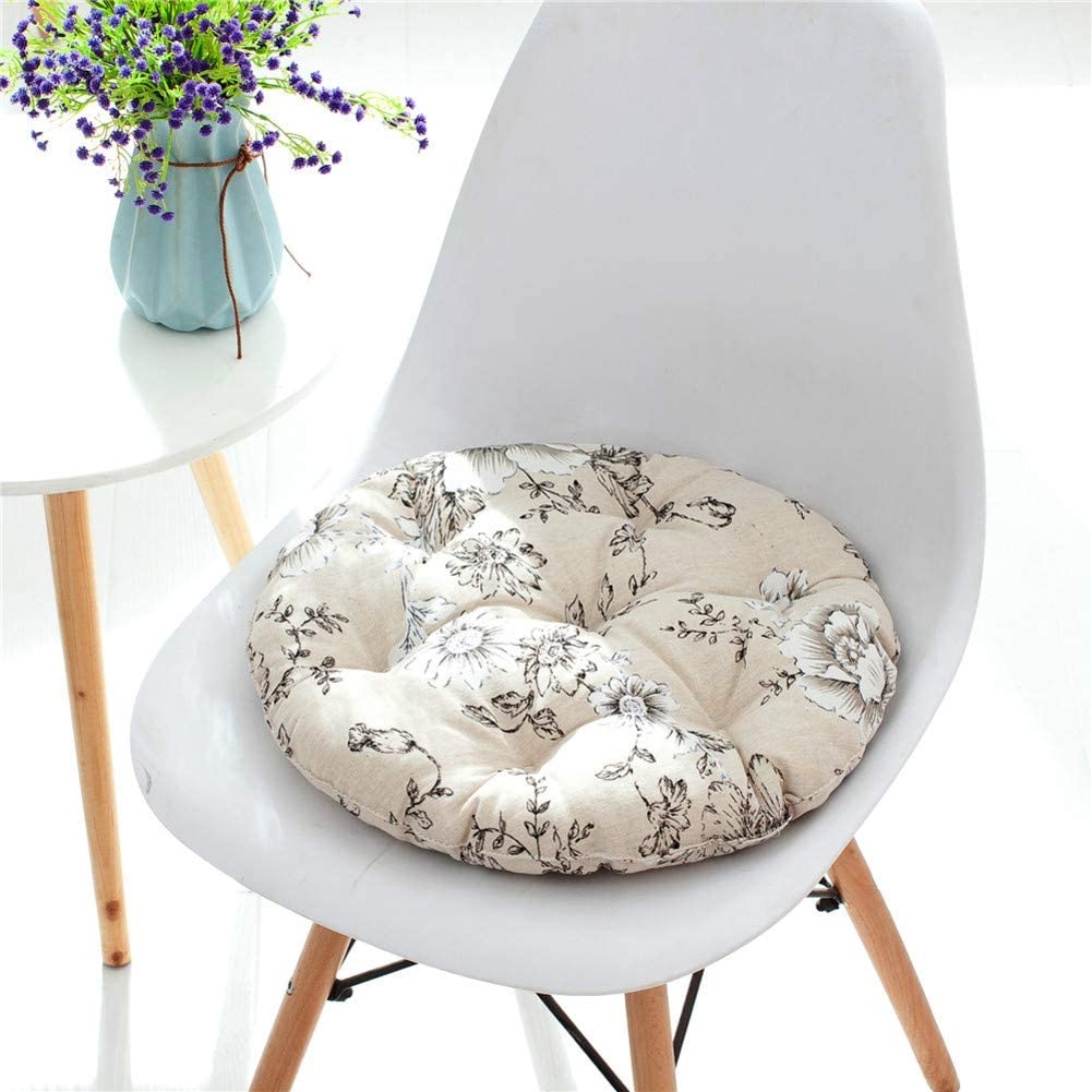 for Indoor and Outdoor Dining Chair Pad,Round Chair Cushion Seat Pad Replacement Cushions-a Diameter43cm 17inch