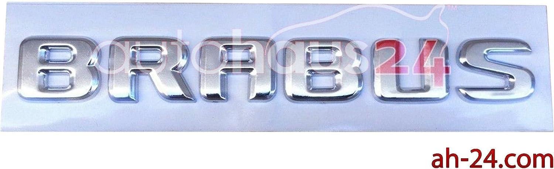 BRAND NEW ORIGINAL BRABUS TRUNK LOGO BADGE EMBLEM IN CHROME REAR BACK SL G S CL