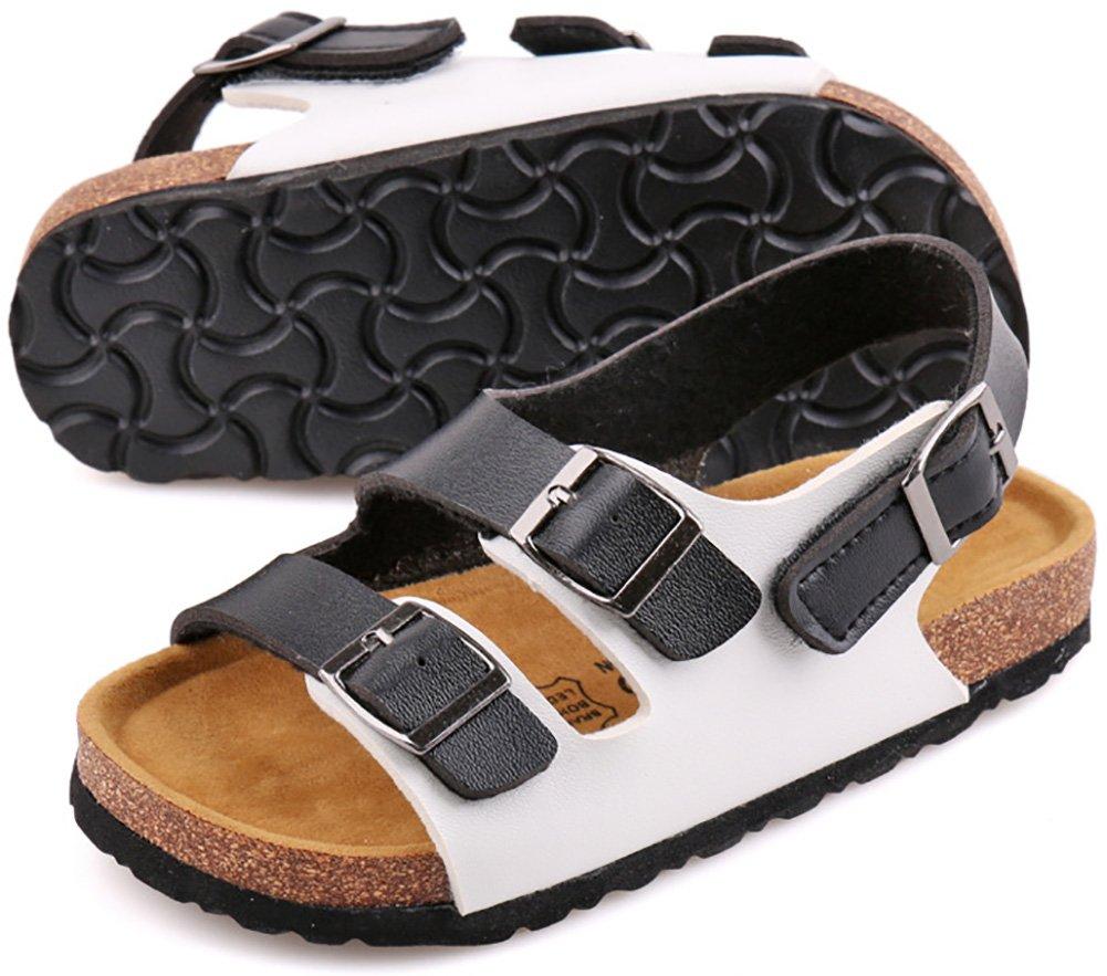 UBELLA Boys Girls Kids Buckle Strap Open Toe Casual Beach Gladiator Sandals