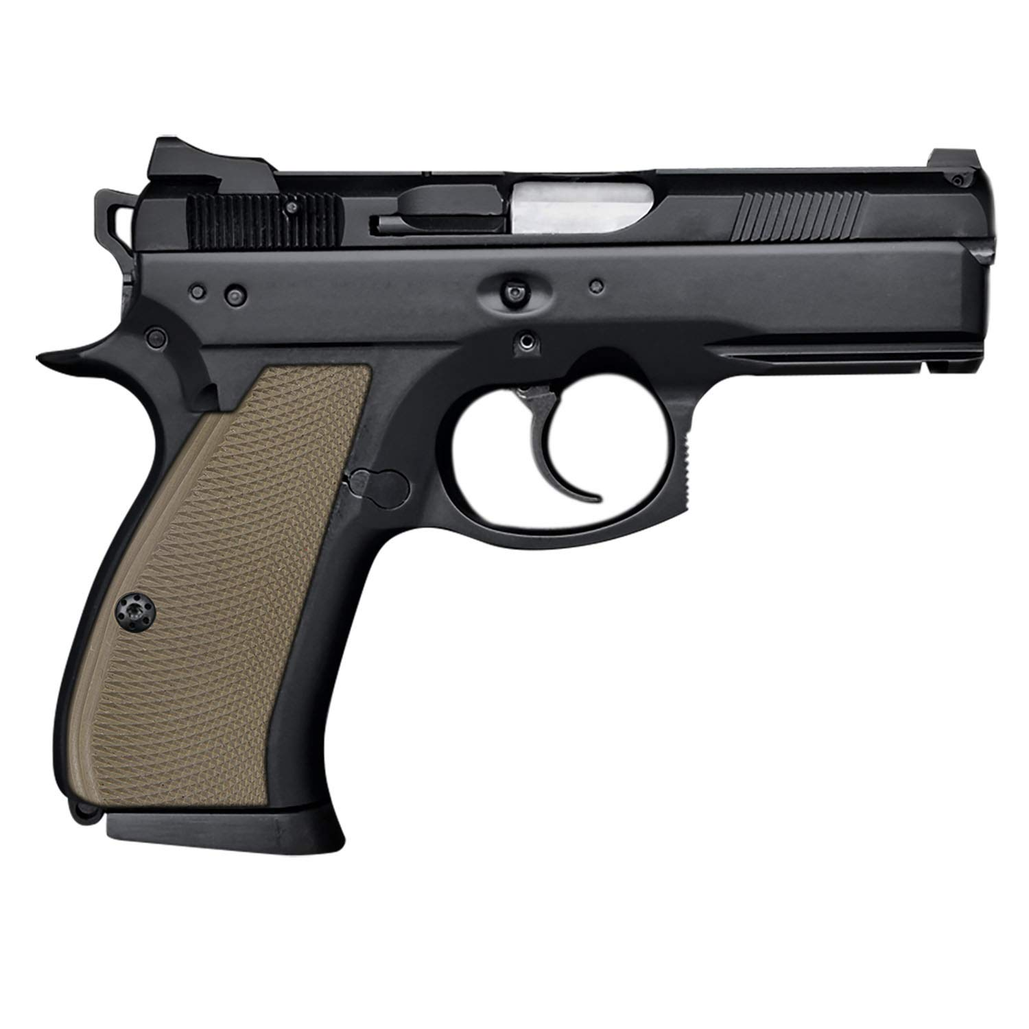 Cool Hand G10 Grips for CZ 75/85 Compact, Free Screws Included, Dark Earth, SPC-PN-32 by Cool Hand
