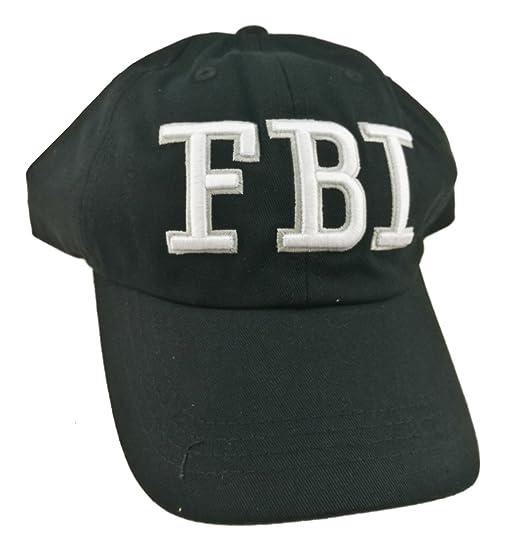 Unigift Embroidery FBI Baseball Cap Washed Baseball Hat (Black) at ... f51e129f7ca