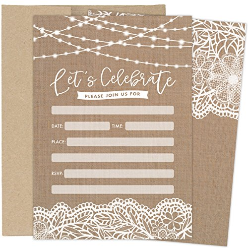 vintage bridal shower invites - 1