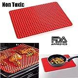 2 Pcs Non Toxic Cooking BBQ Reusable Cooking Sheet- Nonstick BBQ...