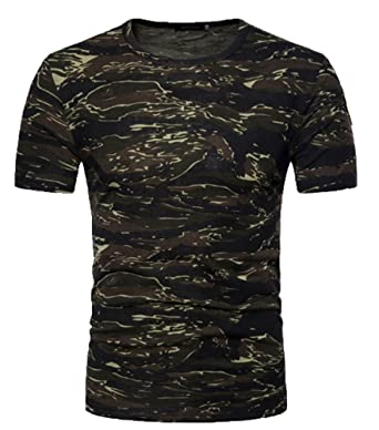 962a06a19726 hellomiko Heiße Neue Verkauf Männer Sommer Camouflage T-Shirt, Mode Männer  Camo Print Rundhalsausschnitt
