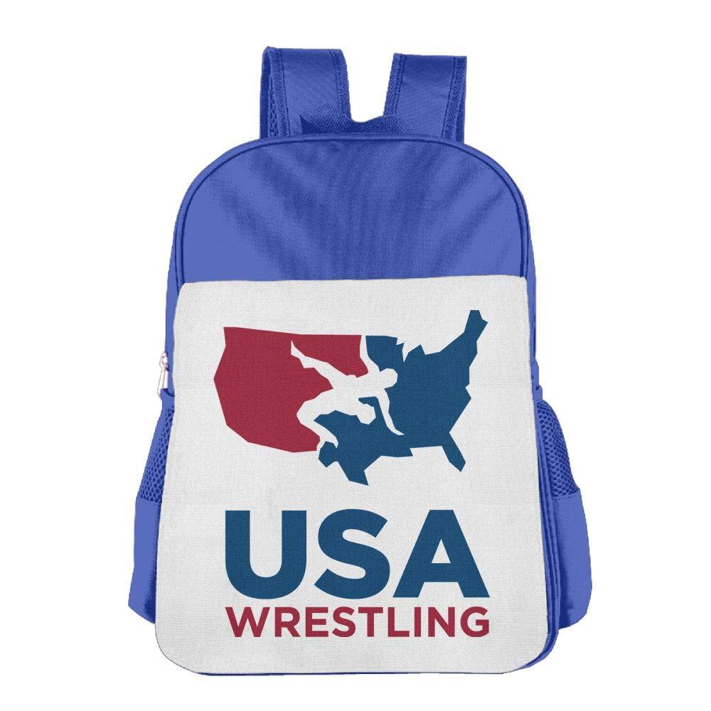 Shijingshan Usa Wrestling School Book Bag Travel Student Backpack For Children Kids Girls Boys