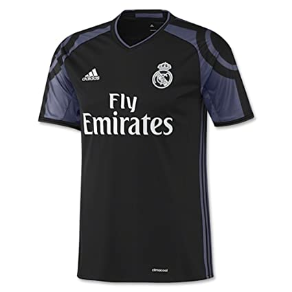 outlet store 2cc2a ae652 Adidas Real Madrid CF 3rd Jersey-BLACK (XS)