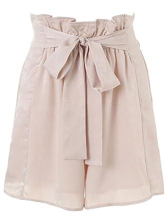 Missy Chilli Damen Kurz Hose High Waist Strand Shorts mit Schleife ... 587c64b389