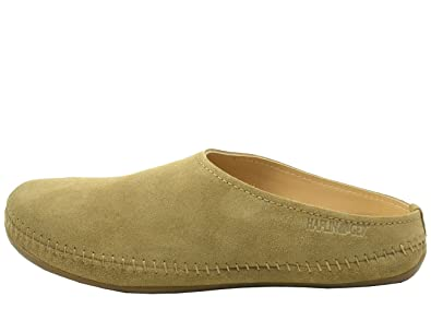 Haflinger 488023-0 Everest Softino Damen Herren Hausschuhe Pantoffeln , Schuhgröße:41;Farbe:Beige