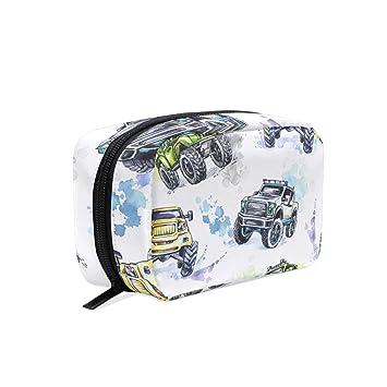 d6ae70449fdf Amazon.com : MAPOLO Cartoon Monster Trucks Handy Cosmetic Pouch ...