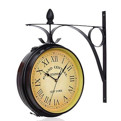 Amazon Com Pqpqpq Grte Wall Clock Retro Vintage European Retro Mute