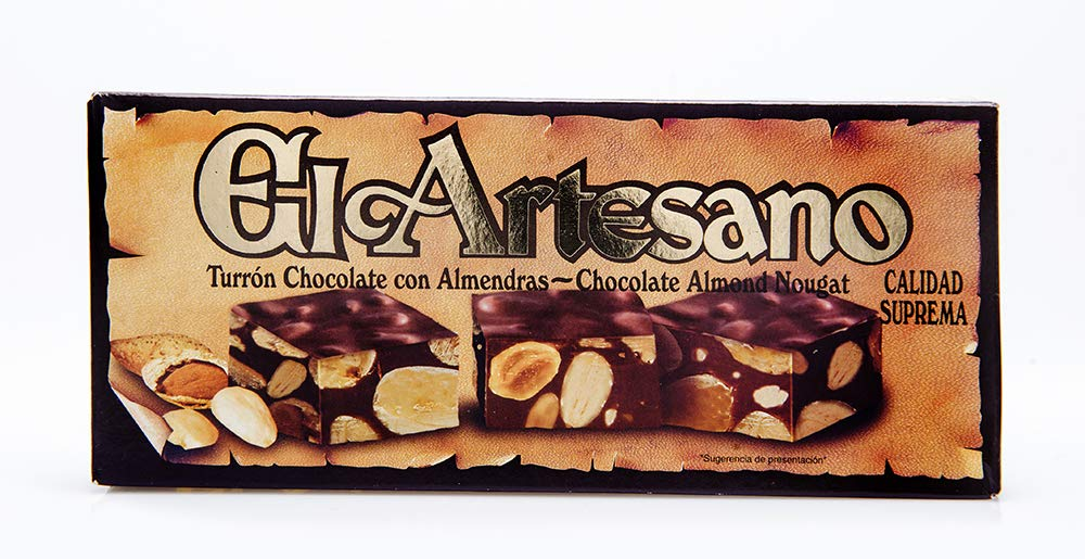 Amazon.com : El Artesano Chocolate and Almond Turron 7oz (200 G) (Pack of 1) : Grocery & Gourmet Food