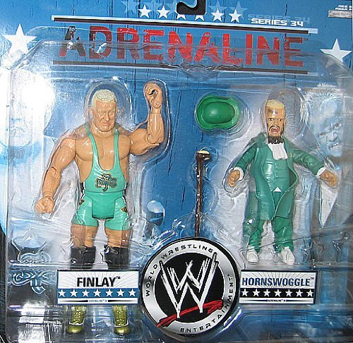 WWE FINLEY & HORNSWOGGLE ADRENALINE 34 2 PACK -
