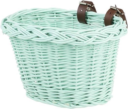 e-wicker24 - Cesta para bicicleta infantil (mimbre), color verde ...