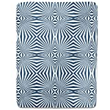 Navy Hypnosis Fitted Sheet: King Luxury Microfiber, Soft, Breathable