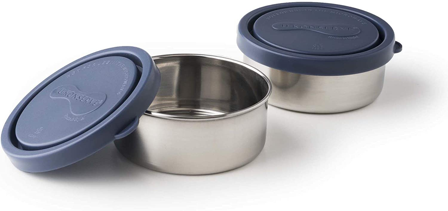 U-Konserve Round Small Stainless Steel Container 5oz (Set of 2) - Ocean