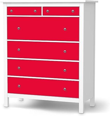 Ikea Hemnes Cassettiera Rossa.Pellicola Ikea Hemnes Como Cassetti 6 Design Adesivo Rosso 2
